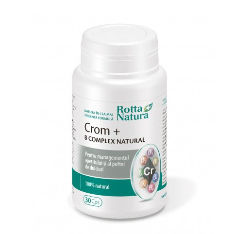 Rotta Natura Crom + B Complex natural 30 cps.