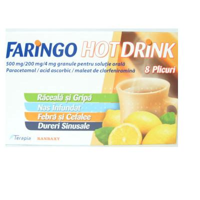 Terapia Faringo Hot Drink 8 Plicuri