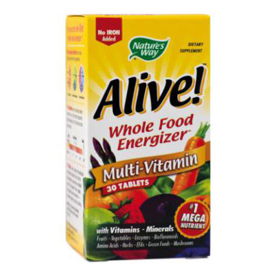 Natures Way Alive! (Fara Fier) 30 tablete Multivitamin