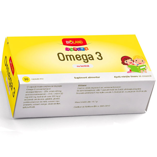 Bioland Junior Omega3 30cpr