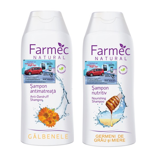 Farmec Sampon antimatreata 200ml + Sampon nutritiv 200ml CADOU