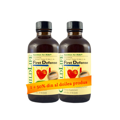 First Defense Sirop 118ml ChildLife 1+50% din al doilea produs