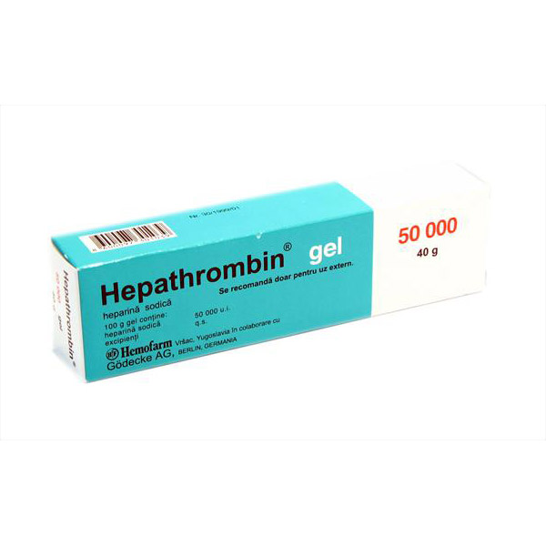 Hepathrombin 50000UI gel 40g