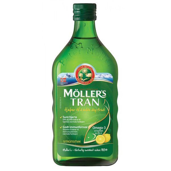 Mollers Cod Liver Oil Omega3 lamaie 250ml
