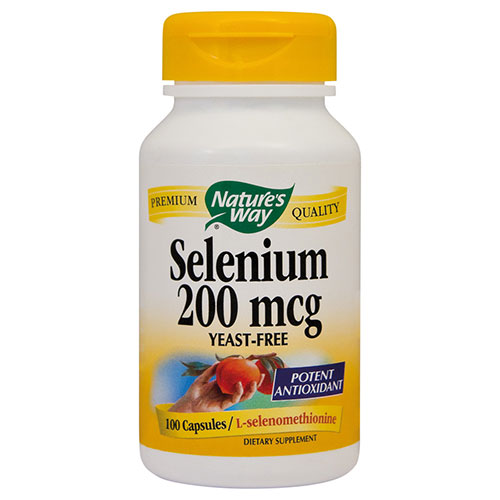 Selenium 200MCG 100CPS Nature's Way
