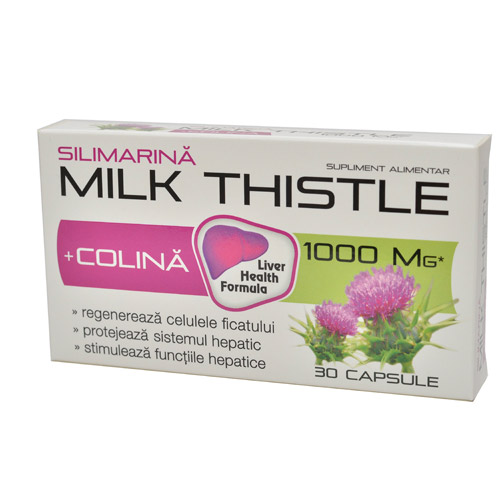 Zdrovit Milk Thistle 1000mg + Colina 30cps