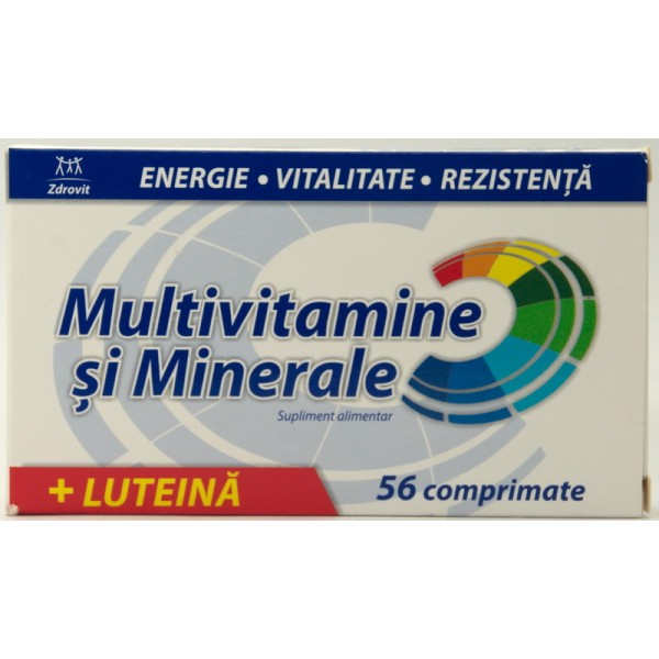Zdrovit Multivitamine si multiminerale 56cpr