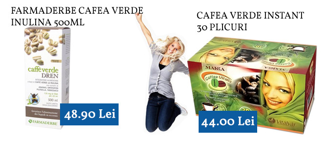 Cafea verde instant si inulina