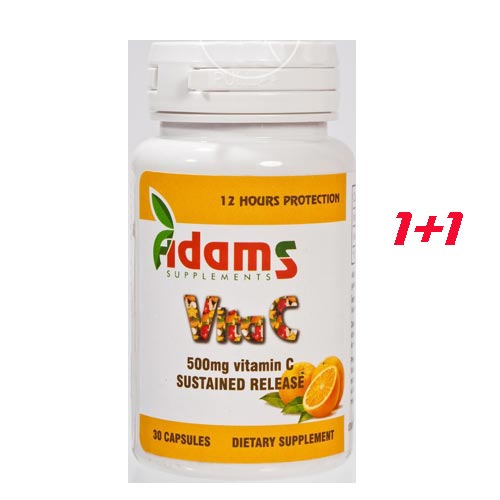 Adams Vitamina C 500mg 30 cps 1+1 gratis