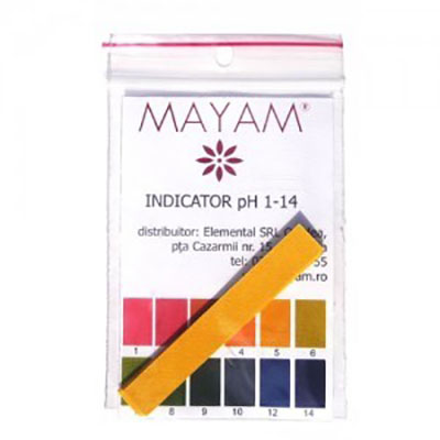 Mayam HARTIE INDICATOR PH SET 10 BUC