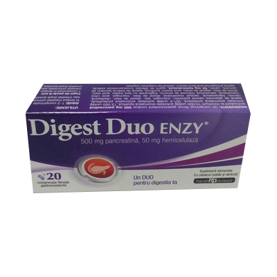 Health Digest Duo Enzy 20 comprimate